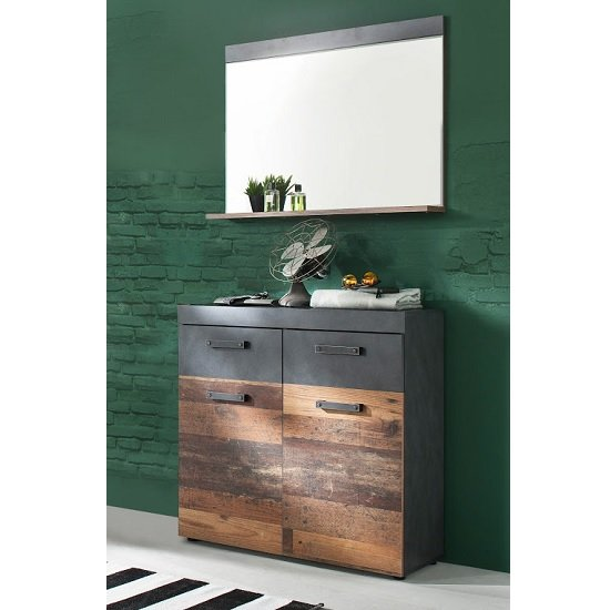 Saige Hallway Stand 1 In Old Wood And Graphite Grey