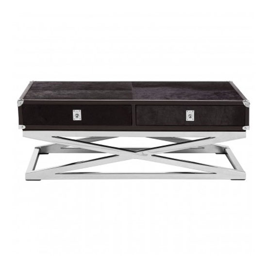 Furud Townhouse Cross Base Coffee Table In Black