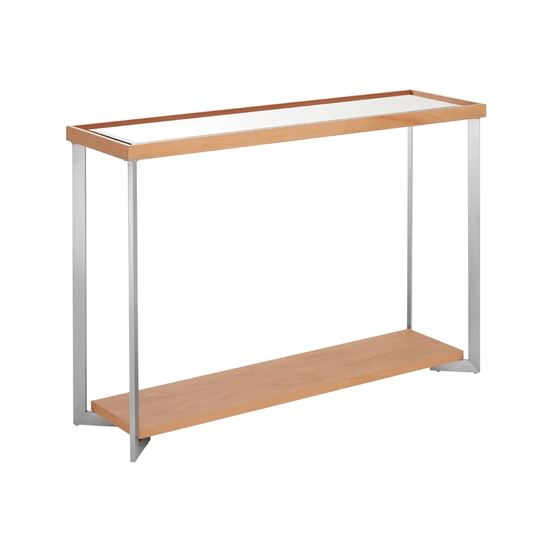 View Furud townhouse mirrored glass console table in natural