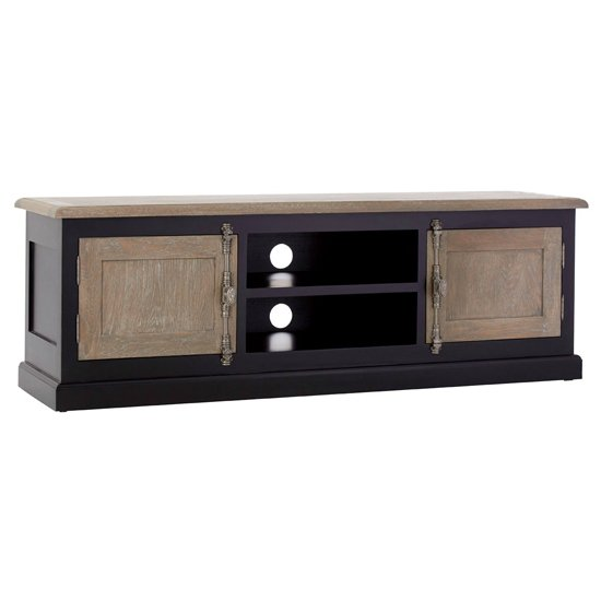 Furud Townhouse TV Stand In Oak And Black