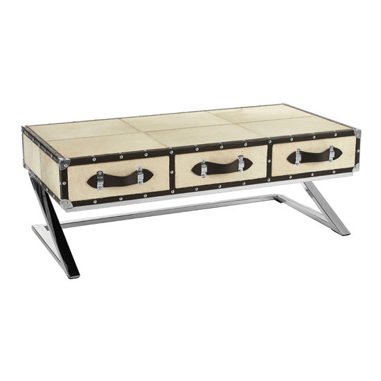 Furud Townhouse Wooden Coffee Table In Natural