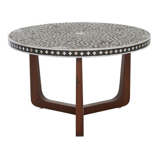 View Diadem mdf round coffee table with mango wood legs