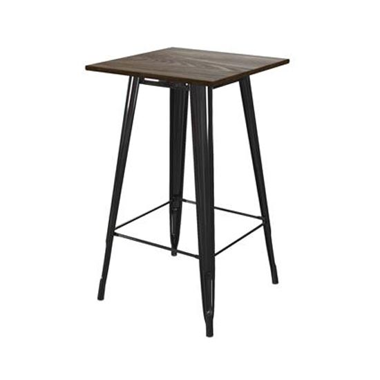 Fusion Metal Square Bar Table In Black_1