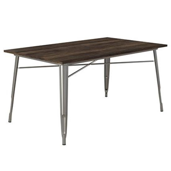Fusion Rectangular Dining Table In Antique Gun Metal_1