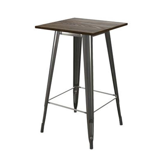 Fusion Square Bar Table In Antique Gun Metal