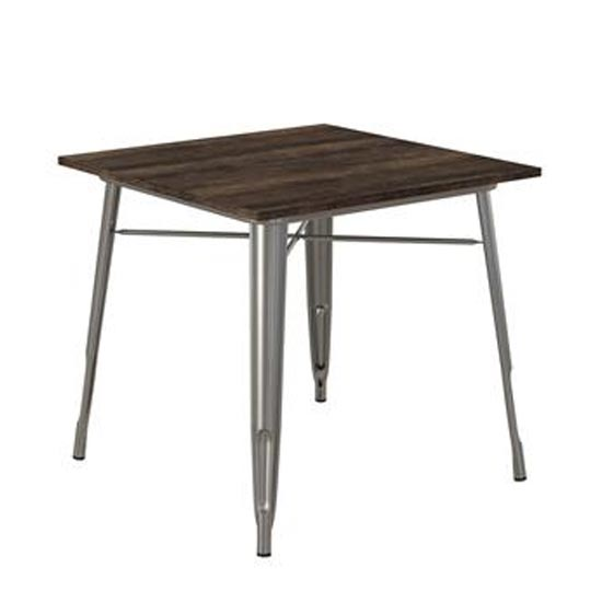 Fusion Square Dining Table In Antique Gun Metal