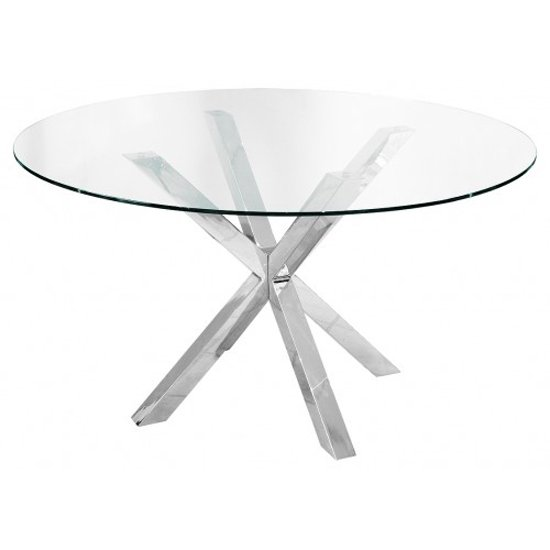 Crosley Round Clear Glass Dining Table Only
