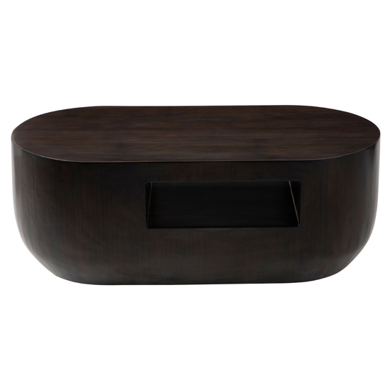Gablet Oblong Wooden Coffee Table In Dark Brown_2