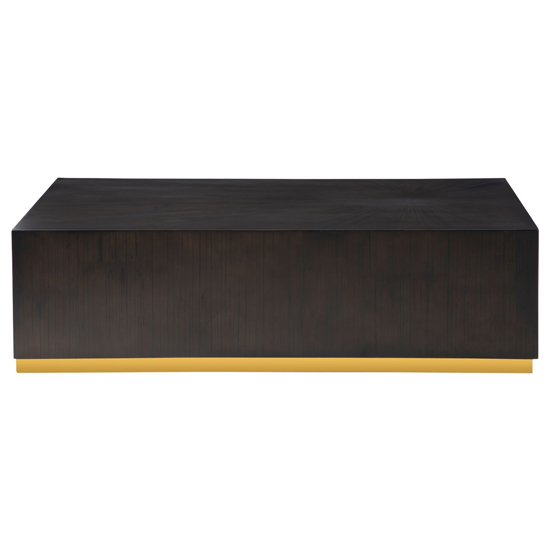 Gablet Rectangular Wooden Side Table In Dark Brown