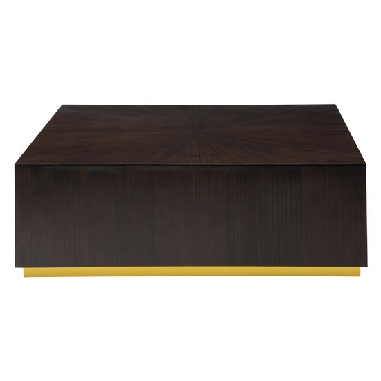 View Gablet square wooden coffee table in dark brown