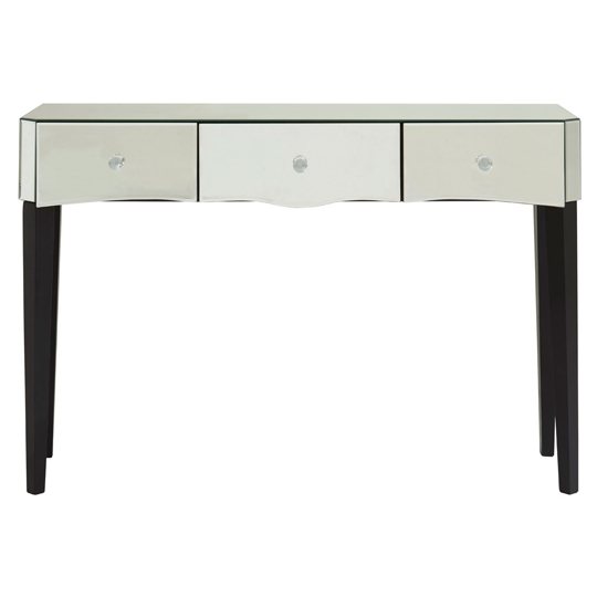 View Dingolay mdf console table with mirrored glass and wood legs