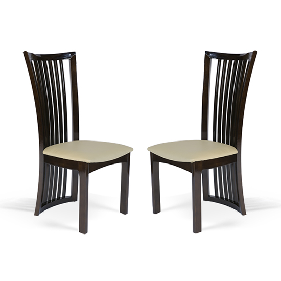 Gacrux Brown Wooden Dining Chair In Pair