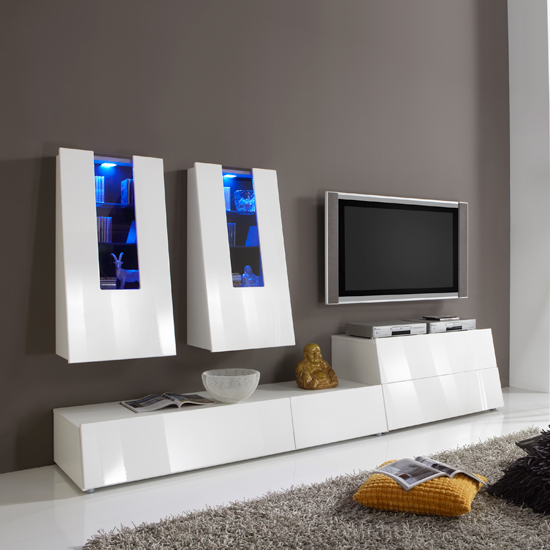 Read more about Gala entertainment tv stands in high gloss white set 5