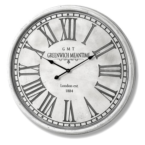 View Galatia wooden wall clock in grey