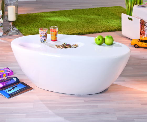 Galaxy Oval White Gloss Coffee Table