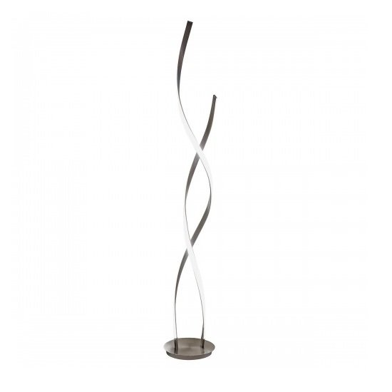 Galla Twisted Floor Lamp Tall In Satin Nickel