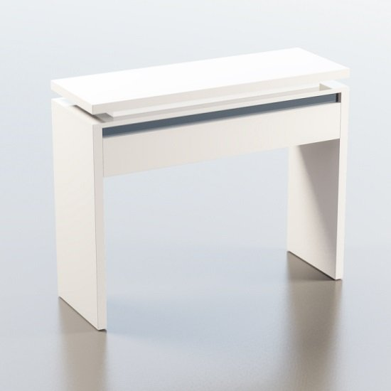 Garde Console Table In White And Black Gloss With Led Lights