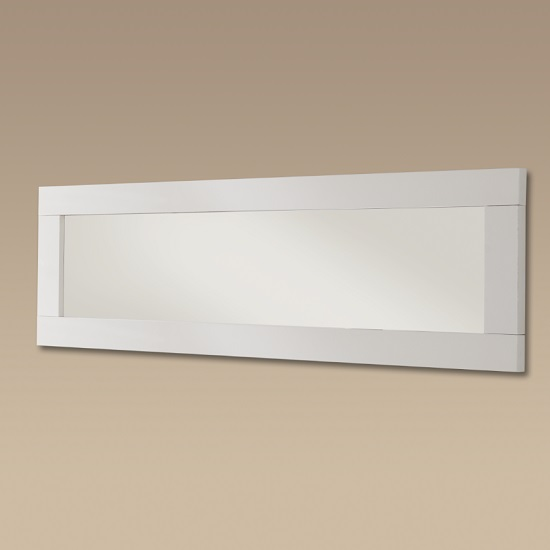 Garde Wall Mirror In White Gloss