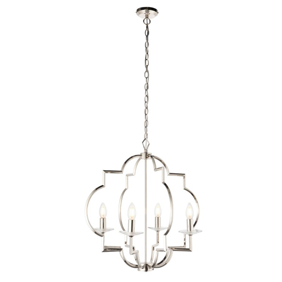 Garland Wall Hung Pendant Light In Chrome