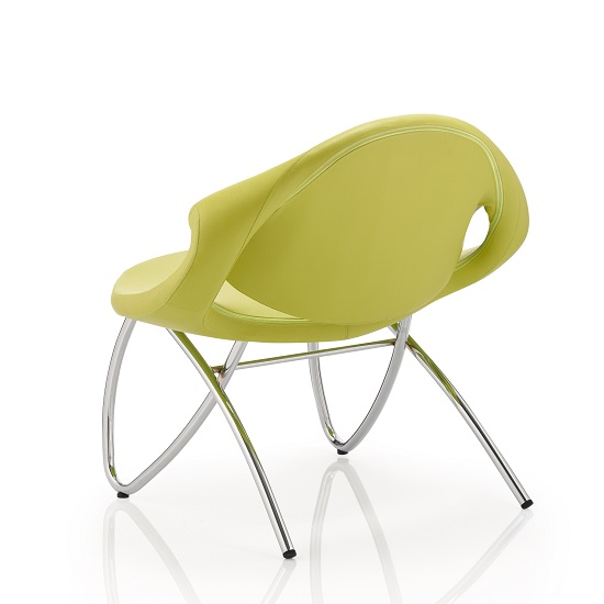 Garner Visitor Office Chair In Green Bonded Leather_3
