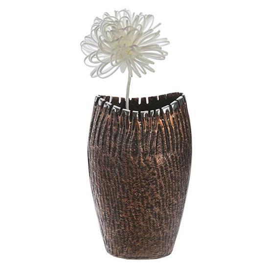 Garon Aluminium Large Decorative Vase In Bronze And Brown