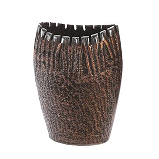Garon Aluminium Small Decorative Vase In Bronze And Brown
