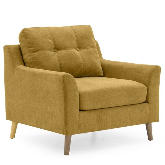 Garrick Fabric Sofa Chair In Citrus With Wooden Legs