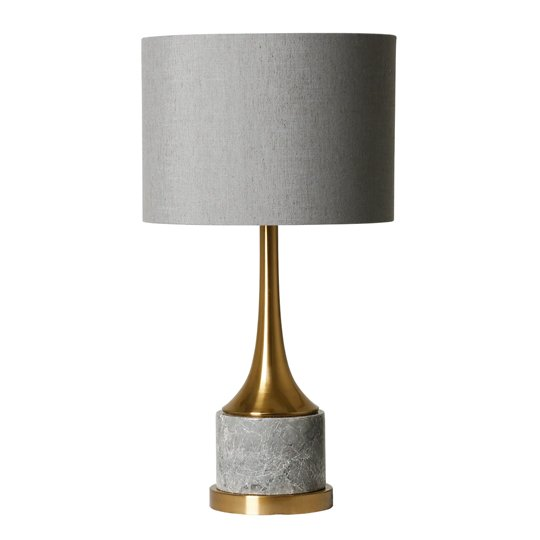 Garwin Table Lamp With Grey Marble Base