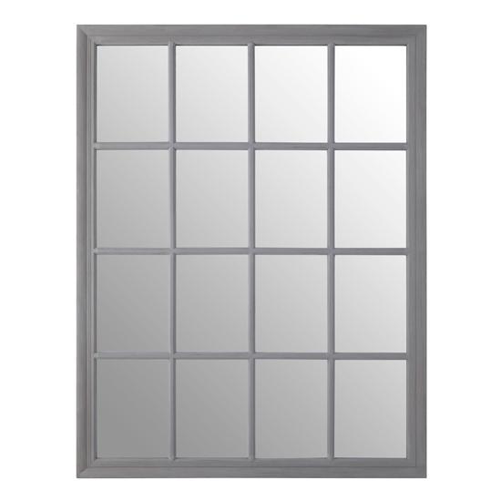 View Gatoma window design wall mirror in grey