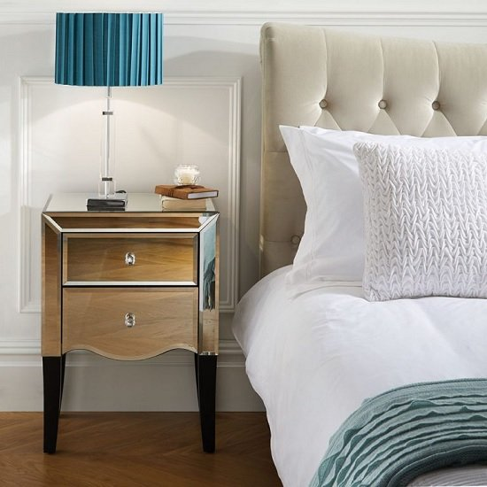 Gatsby Mirrored Bedside Cabinet With 2 Drawers_2