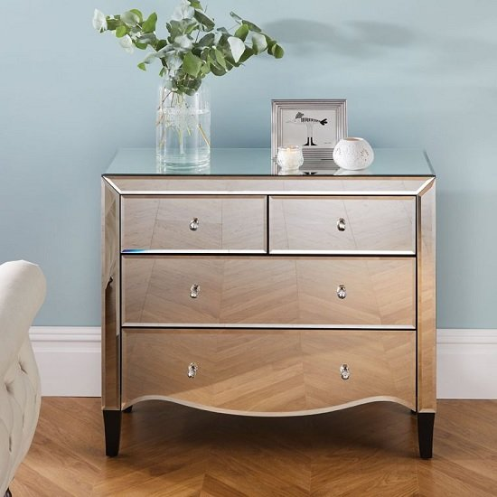 Gatsby Mirrored Chest Of Drawers With 4 Drawers_2