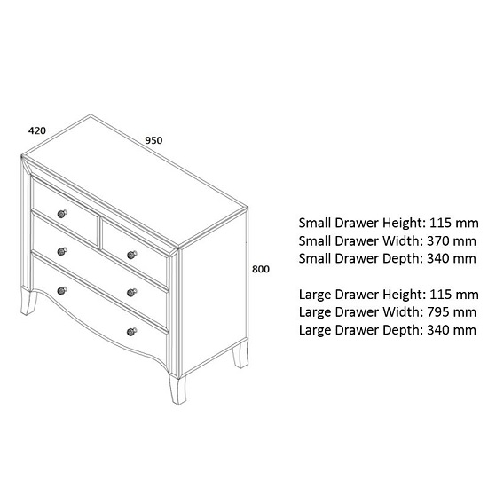 Gatsby Mirrored Chest Of Drawers With 4 Drawers_3