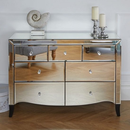 Gatsby Mirrored Wide Chest Of Drawers With 7 Drawers_2