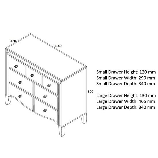 Gatsby Mirrored Wide Chest Of Drawers With 7 Drawers_3
