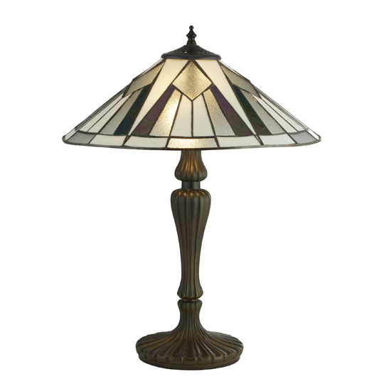 Gatsby Tiffany Table Lamp In Multicolour