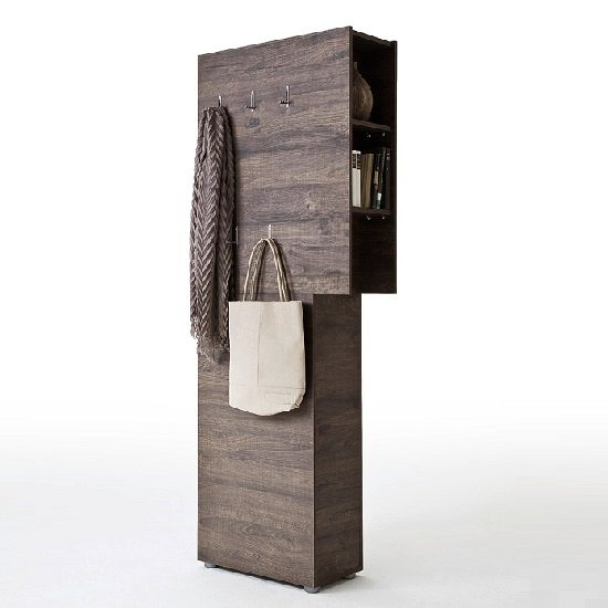 Genie Modern Coat Rack In Wenge With 5 Hooks_1