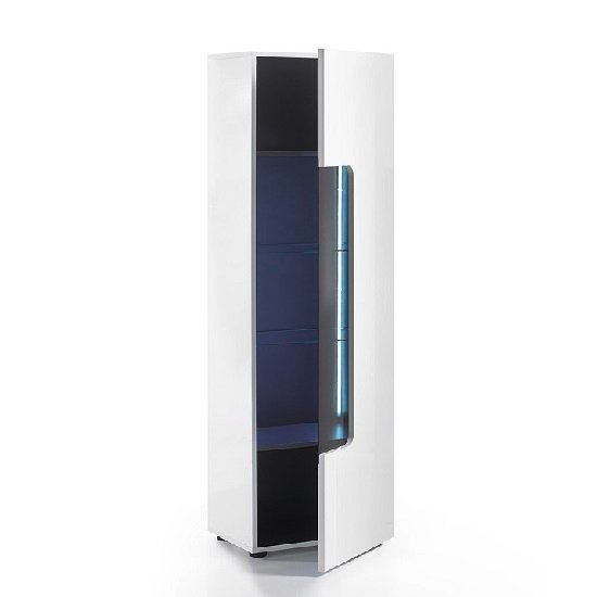 cabinets genie display cabinet in white high gloss with led lighting