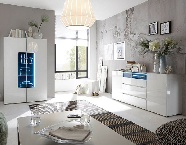 Genie Sideboard In High Gloss White With LED Lighting_5