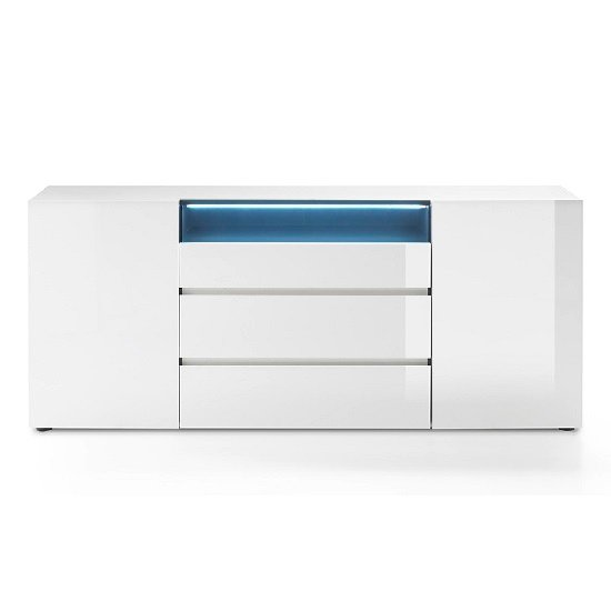 Genie Sideboard In High Gloss White With LED Lighting_3