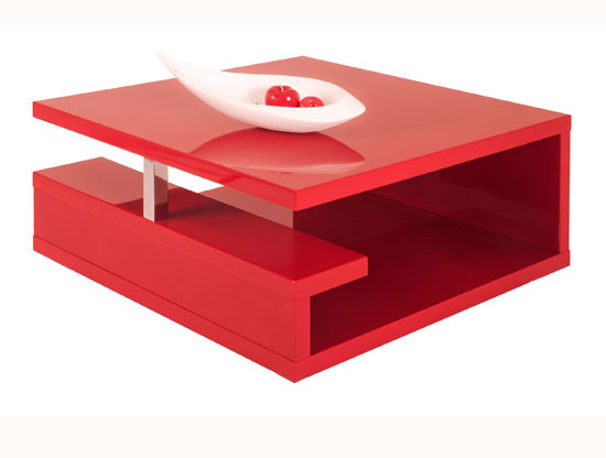 Description Features Spectacular Red Modern Coffee Table Bring The Joy