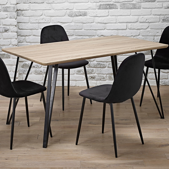 Genoa Wooden Dining Table In Dark Oak_2