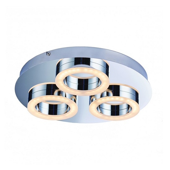 Geo Round Warm White Ceiling Light