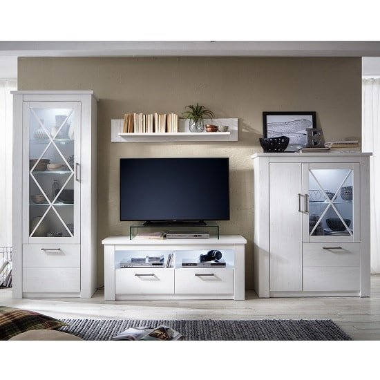 Gerald Living Room Furniture Set In White Pine With LED_6