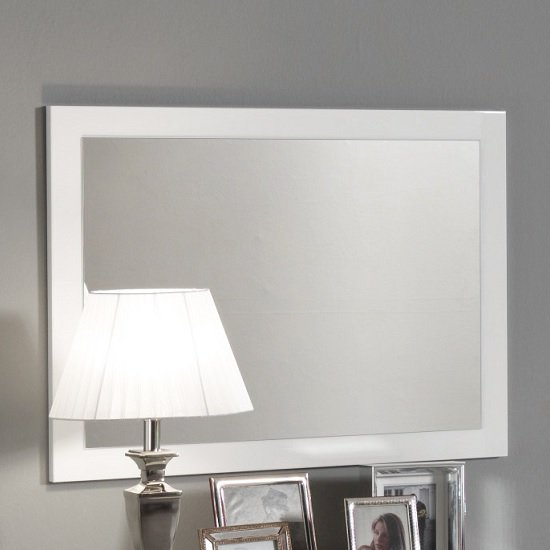 Gianna Wall Mirror Rectangular In White Gloss_1