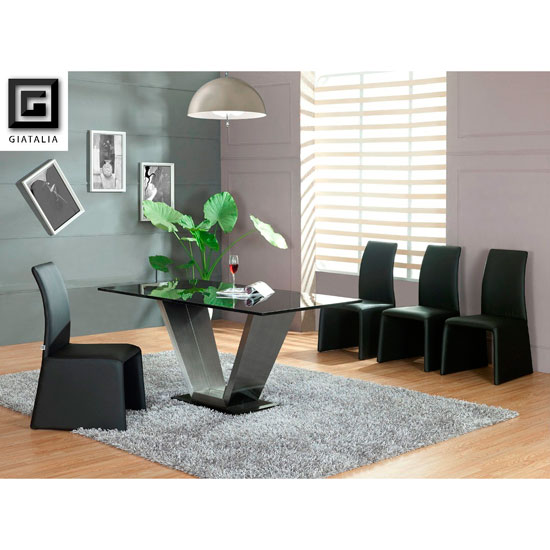 giatalia viva black marble dining table 6 dining chairs - Looking After Household Furniture To Ensure A Long Life Span