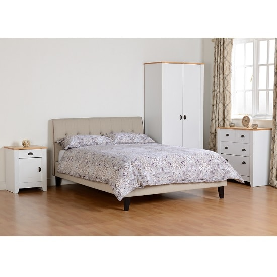 Gibson Wooden Bedroom Furniture Set In White And Oak_5