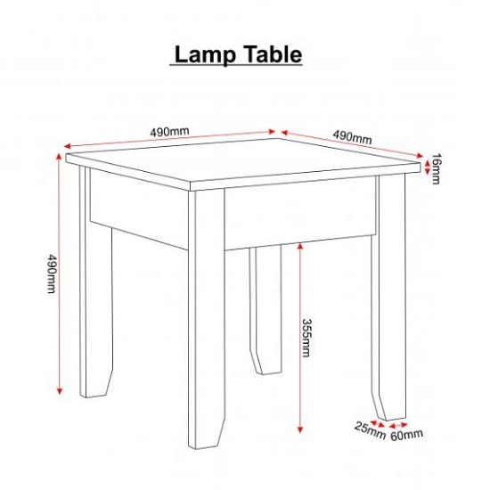 Gibson Wooden Lamp Table Square In White And Oak_2