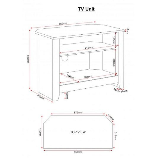 Gibson Wooden Corner TV Stand In White And Oak_3