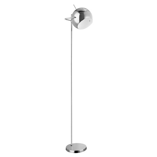 Product photograph showing Gikona Ball Design Shade Floor Lamp In Chrome