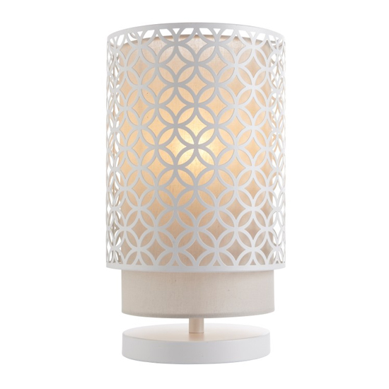 Gilli Table Lamp In Chalk White And Pale Grey